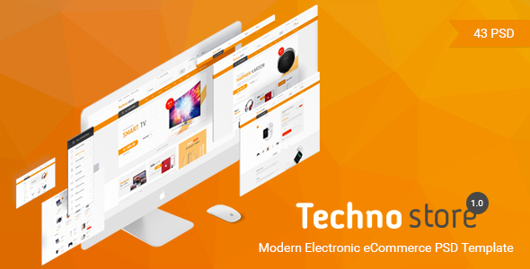 Techno Store - Electronic eCommerce PSD Template            TFx Kadek Harlow