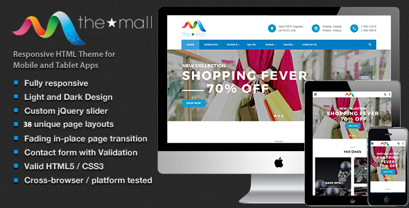 The Mall – Shopping, Entertainment & Multi-Purpose HTML5 Template            TFx Ellis Victor