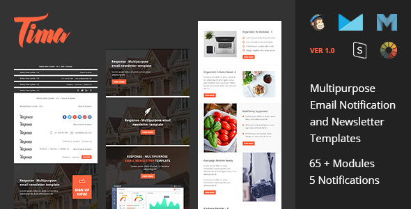 Tima - Multipurpose Email Notifications & Newsletter Templates            TFx Stafford Brenton
