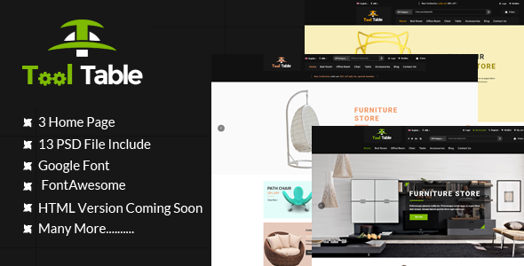 Tool Table Commerce PSD Template            TFx Cordell Darren