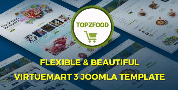 TopzFood – Multipurpose VirtueMart eCommerce Joomla Templates            TFx Lamar Jody