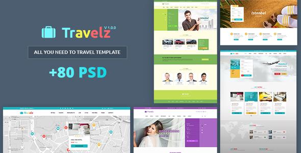 Travelz – Multipurpose Booking PSD Template            TFx Sanford Mervin