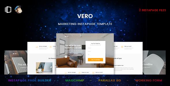 Vero - Marketing Instapage Template            TFx Schuyler Royston