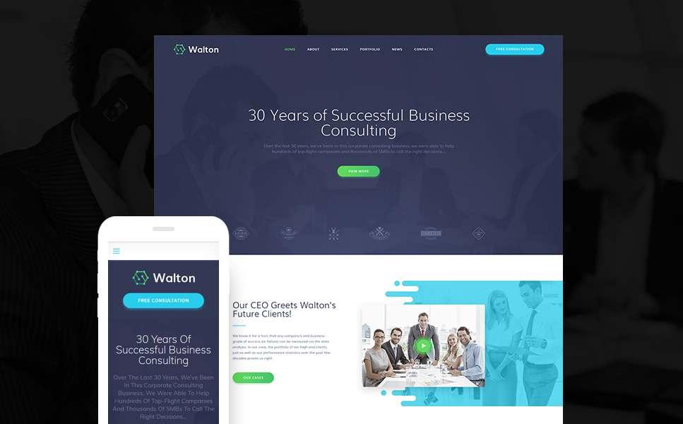 Walton - Finance & Consulting Corporate WordPress Theme TMT Gib Haven