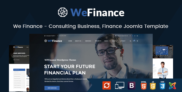 We Finance - Consulting Business, Finance Joomla Template            TFx Korbin Tobias