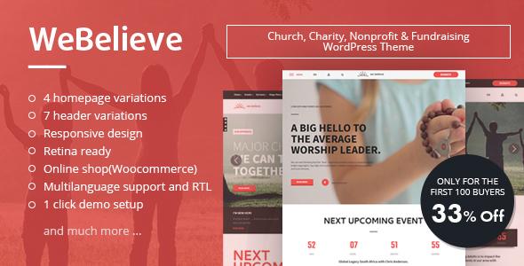WeBelieve | Responsive Multi-Purpose Church Theme            TFx Algernon Spike