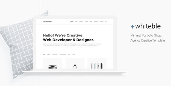 Whiteble – Minimal Portfolio, Agency, Shop, Creative HTML Template            TFx Winton Sherwood
