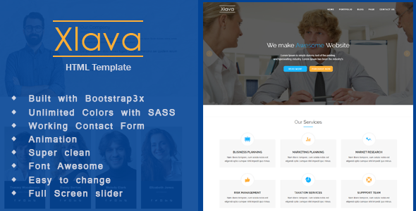 Xlava – Corporate, Agency Business HTML5 Template TFx Antony Lovell