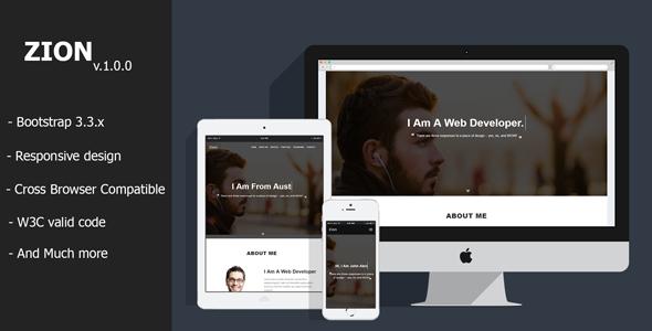 Zion - Personal Portfolio HTML Template            TFx Mega Jadyn