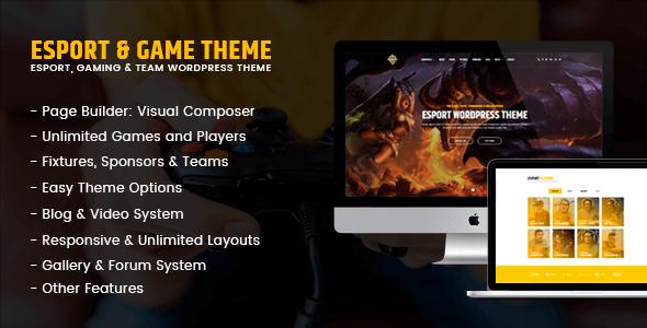 eSport - Gaming WordPress Theme            TFx Ogden Henrik