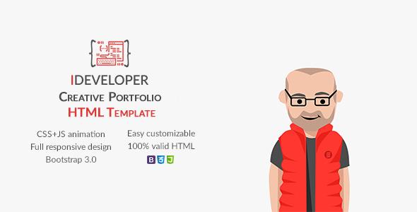 iDeveloper - Creative Personal Portfolio Template            TFx Boyce Norbert