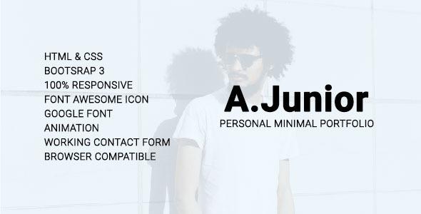 A.Junior Personal/Minimal/Portfolio Template - Personal Site Templates TFx Frank Herman