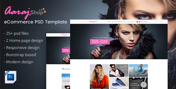 Aaraj Shop - Multipurpose Ecommerce PSD Template - Shopping Retail TFx Akio Lawson