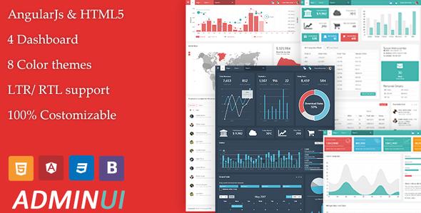 Admin UI - Angular Admin Responsive Template & Dashboard - Admin Templates Site Templates TFx Ohannes Thaddeus