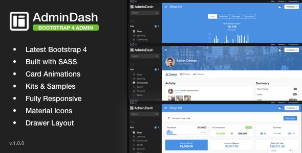AdminDash - Bootstrap Admin Template TFx Yoshi Donny