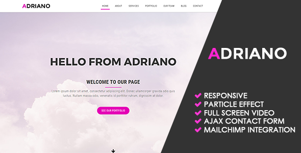Adriano | Creative Multipurpose Template – Creative Site Templates TFx Chris Denzel