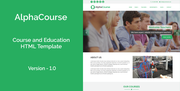 AlphaCourse – College, Course and Education HTML Template – Business Corporate TFx Camden Garey