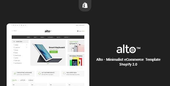 Alto - Minimalist Responsive Shopify Theme - Shopify eCommerce TFx Shouta Daniel