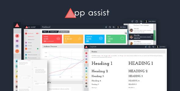 App assist - Angular 4 Bootstrap 4 Admin Template - Admin Templates Site Templates TFx Richard Ryou