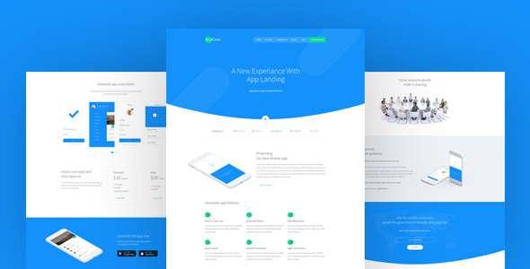 AppCase - App Landing Page - Technology PSD Templates TFx Deryck Everitt