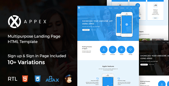 AppEx – App Landing Page + RTL – Landing Pages Marketing TFx Hartley Vosgi
