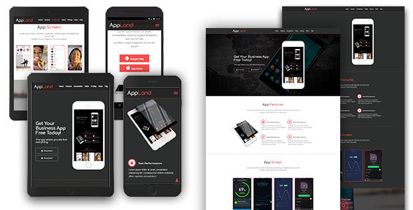 AppLand - Responsive App Template - Software Technology TFx Randy Chauncey
