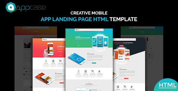 Appcase App Landing Page - Technology Site Templates TFx Jackson Evelyn
