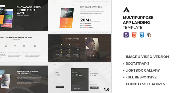 Aria — Responsive App Landing Template - Apps Technology TFx Issac Ted