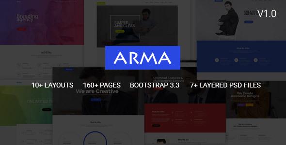 Arma | Multi-Purpose HTML5 Template - Corporate Site Templates TFx Braeden Gordon