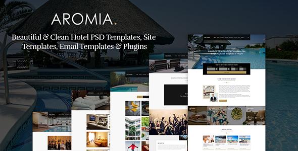 Aromia Hotel PSD Template - PSD Templates  TFx Alvin Kaolin