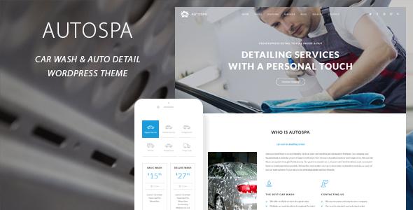 Auto Spa - Car Wash Auto Detail WordPress Theme TFx Topher Buddha