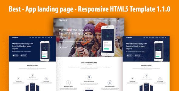 Best - App landing page - Responsive HTML5 Template 1.1.0 TFx Erskine Steph