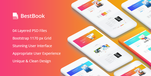Bestbook - Book Author & Marketers Landing Page PSD Template - Marketing Corporate TFx Randolph Ashley