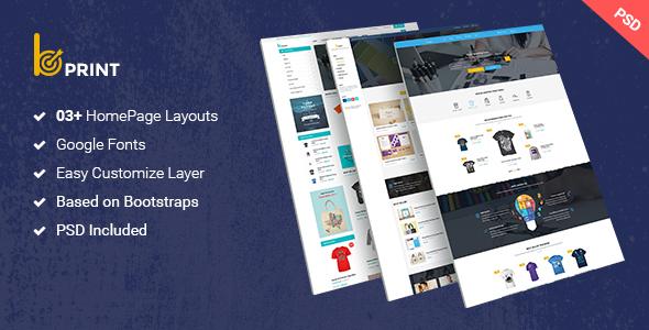 Bprint - Type Design & Printing Services PSD Theme - Creative PSD Templates TFx Bobby Dudley