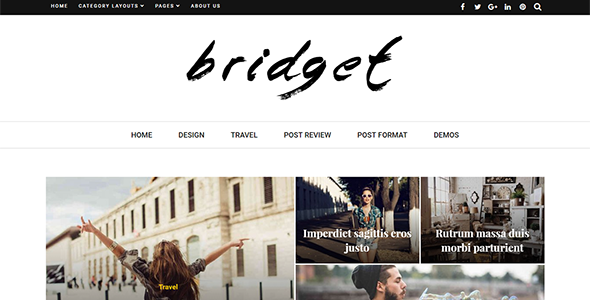 Bridget - Responsive WordPress Magazine and Blog Theme TFx Benjy Rene