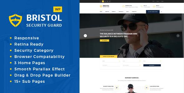 Bristol - Security Services WordPress Theme TFx Leith Jez