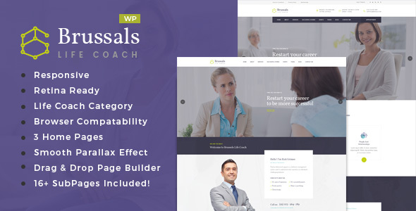 Brussals - Personal Development Coach WordPress Theme - Health & Beauty Retail TFx Eustace Gusti