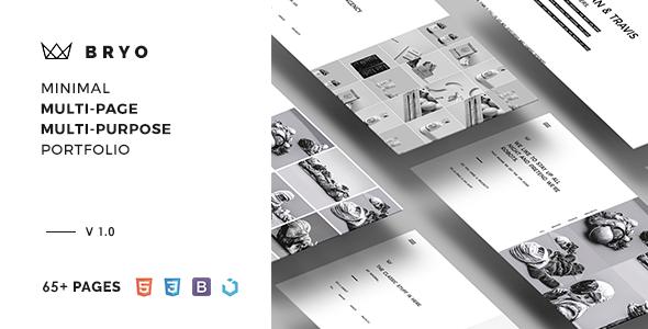 Bryo – Minimal Multi-Purpose Portfolio Template - Portfolio Creative TFx Spartak Grier