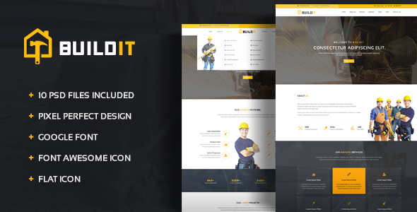 BuildIt - Construction PSD Template - Business Corporate TFx Cosmo Morton