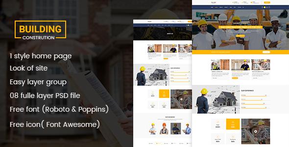 Building - Construction PSD  Template - Business Corporate TFx Darryl Kurou