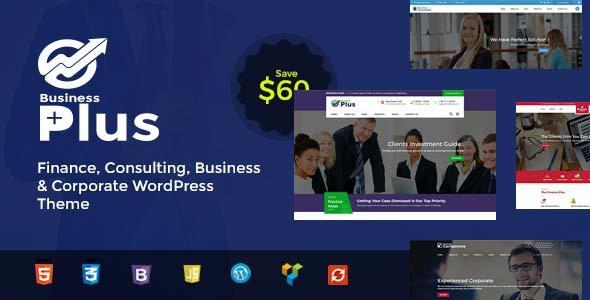 Business Plus - Finance Consultancy WordPress Theme TFx Scott Quidel