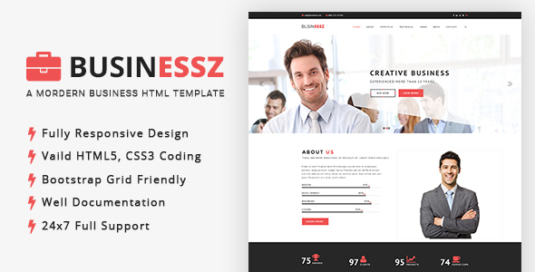 Businessz – Business, Corporate, Agencies HTML Template – Corporate Site Templates TFx Geffrey Chandler