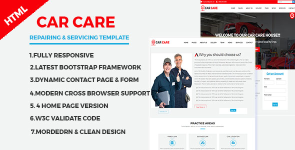 CarCare -  Auto Mechanic & Car Repair Template - Retail Site Templates TFx Deforrest Maximillian
