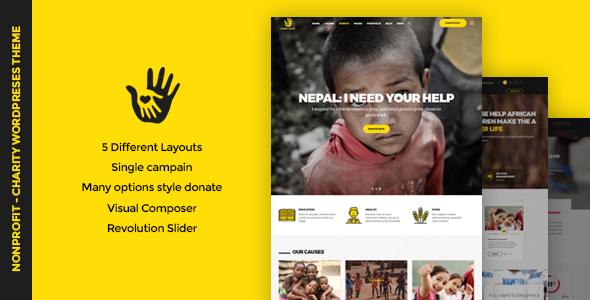 CharityHeart - Charity Responsive WordPress Theme - Charity Nonprofit TFx Rokurou Jaxon