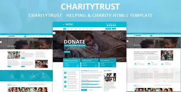 CharityTrust - Nonprofit, Crowdfunding & Charity HTML5 Template - Charity Nonprofit TFx Rickie Flavian
