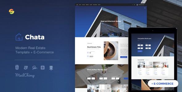 Chata - Modern Real Estate / Architecture Template + E-Commerce - Business Corporate TFx Alf Nolan