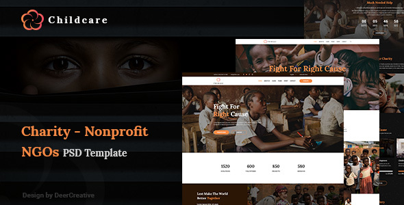 ChildCare | Non-Profit, Charity & Donations PSD Templates - Charity Nonprofit TFx Ferdinand Raharjo