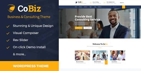 Cobiz -Consulting & Business WordPress Theme TFx Cohen Nigellus
