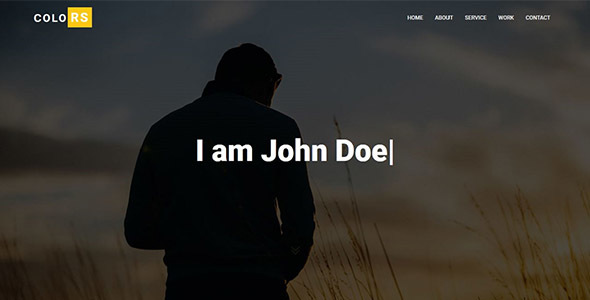Colors - Personal Portfolio Template - Personal Site Templates TFx Muscowequan Omar