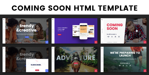 Coming Soon / Landing Page TFx SiteTemplates Reynard Mark
